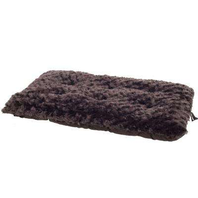 Lavish Cushion Small Chocolate Pillow Furry Pet Bed