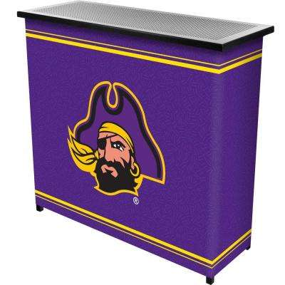East Carolina University 2-Shelf Black Bar with Case