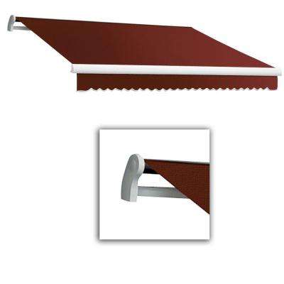 8 ft. LX-Maui Right Motor with Remote Retractable Acrylic Awning (84 in. Projection) in Terra Cotta