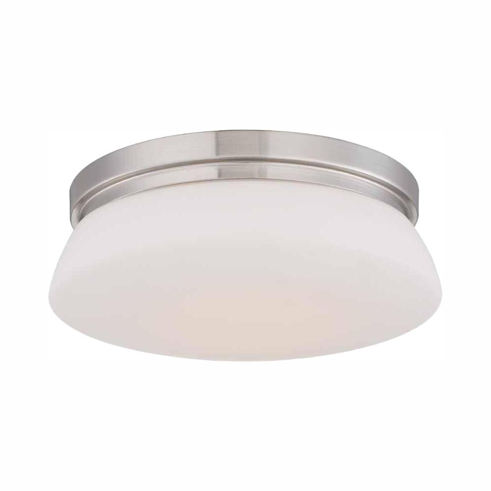 Hampton Bay 13 in. Brushed Nickel LED Flush Mount with Opal Glass was $49.97 now $24.88 (50.0% off)