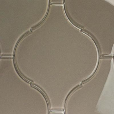 Evermore 8 in. x 10.25 in. x 8mm Gray Arabesque Glass Wall Tile (3 pieces / 1.05 sq. ft. / case)