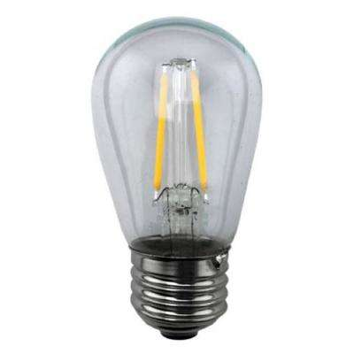 25-Watt Equivalent 2-Watt S14 Non-Dimmable LED Antique Vintage Style Clear Sign Light Bulb 81139