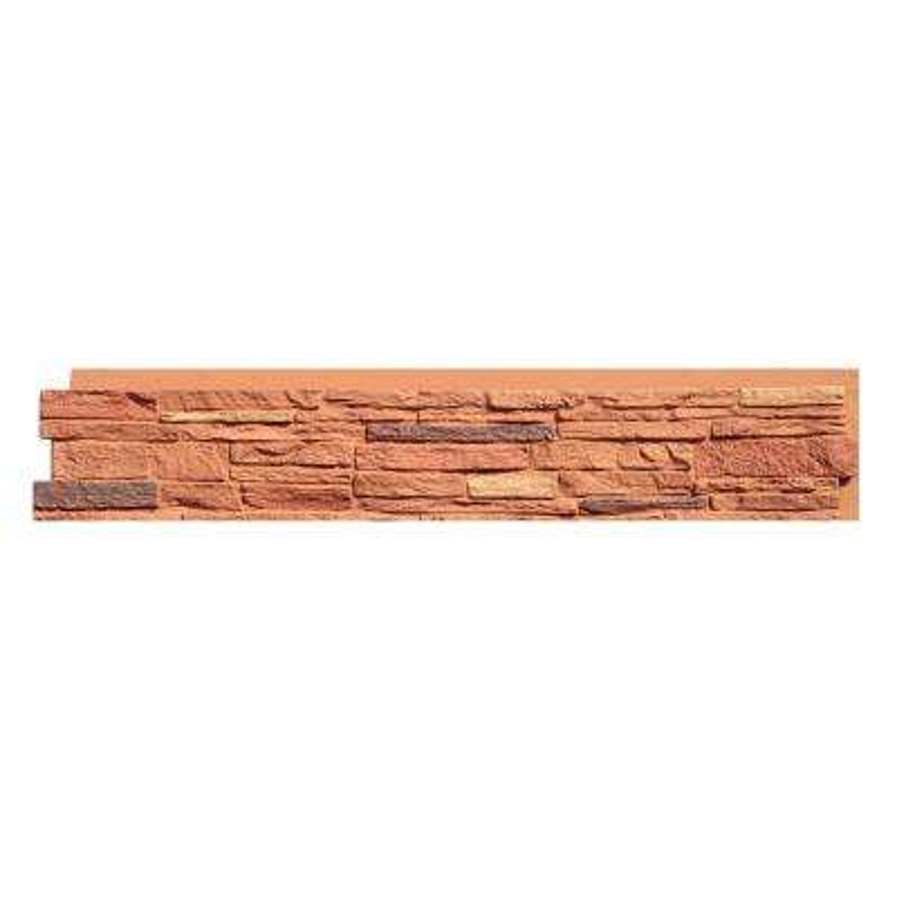 Slatestone 8.25 in. x 43 in. Faux Stone Siding Panel in Arizona Red (8-Pack)