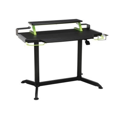 42 in. Rectangular Green Computer Desk with Adjustable Height Feature