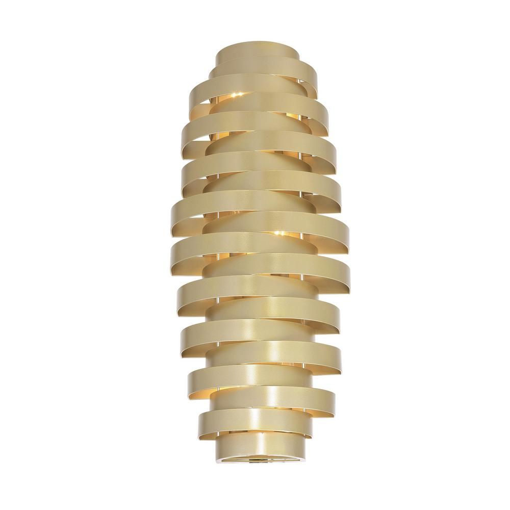 CWI Lighting Elizabetta Collection 10 in. Gold Leaf Sconce