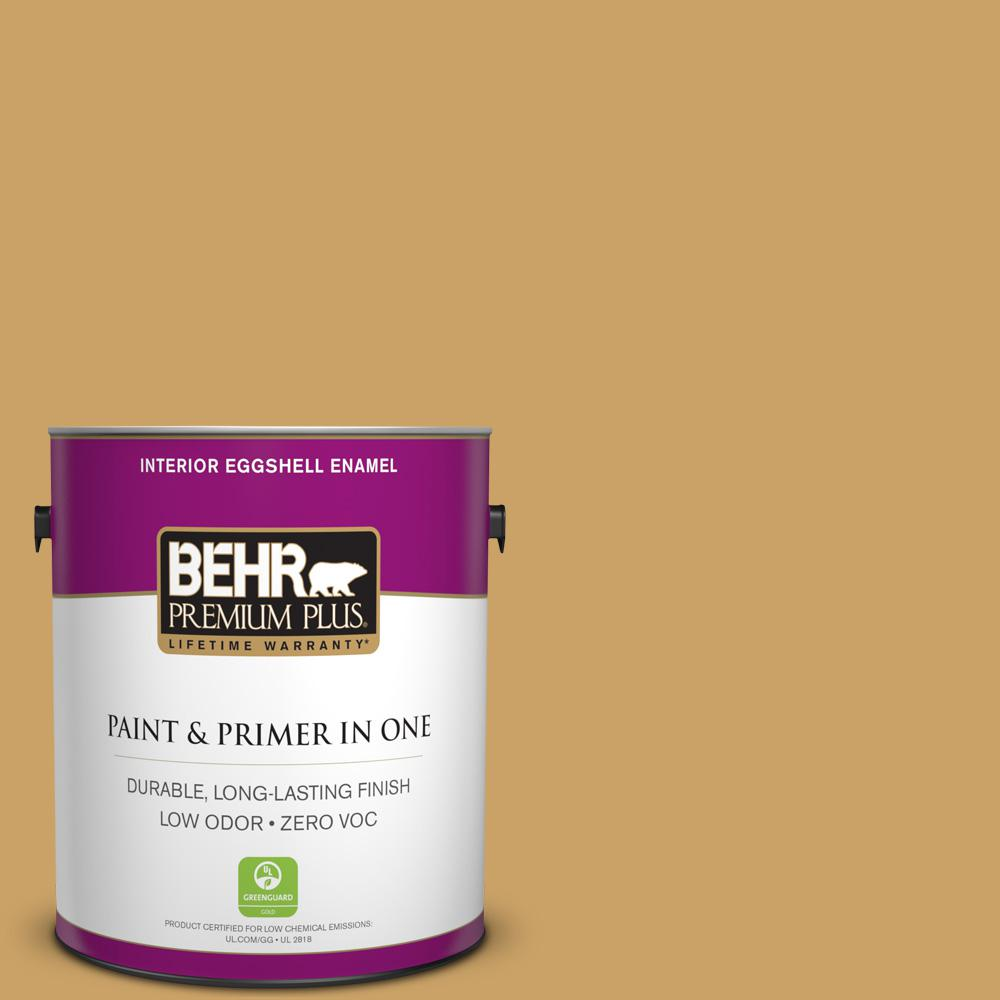 1 gal. #PPU6-17 Classic Gold Zero VOC Eggshell Enamel Interior Paint