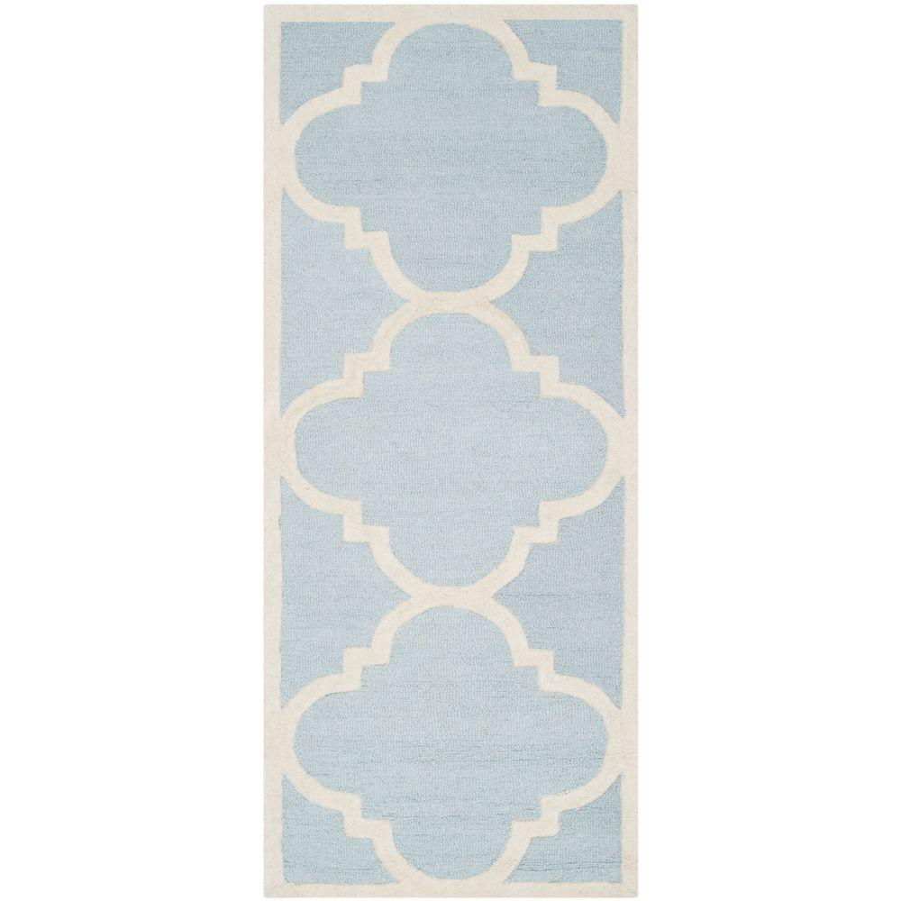 Cambridge Light Blue/Ivory 2 ft. 6 in. x 6 ft. Runner