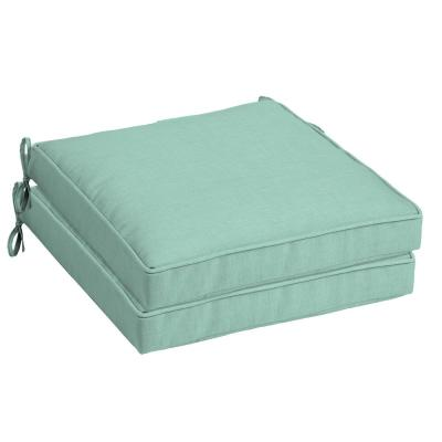 21 in. x 21 in. Aqua Leala Texture Square Outdoor Seat Cushion (2-Pack)