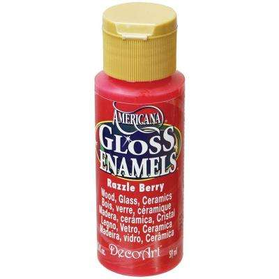 2 oz. Razzle Berry Gloss Enamel Paint