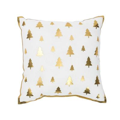 Gold Glam  10 in. x 10 in. Mini Tree Pillow