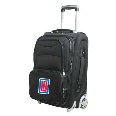 NBA Los Angeles Clippers 21 in. Black Carry-On Rolling Softside Suitcase