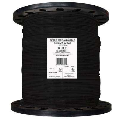 2500 ft. 14 Black Solid THHN Wire