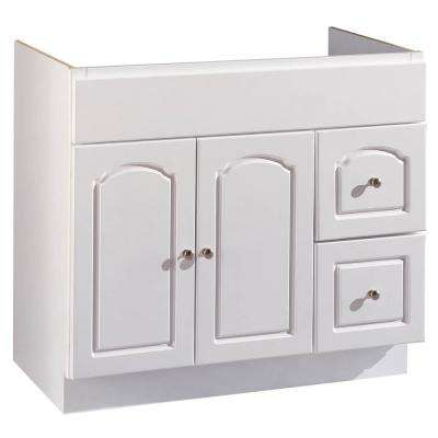 36 in. W Bathroom Vanity Cabinet Only in White Aspen Finish
