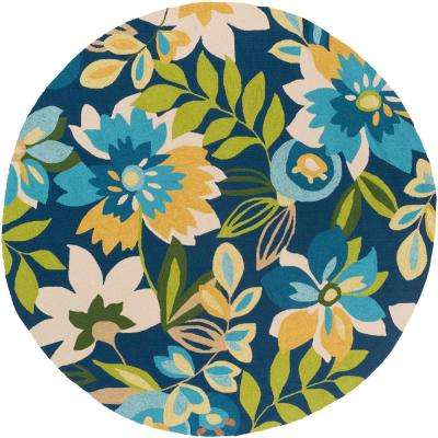 Piute Navy 8 ft. x 8 ft. Round Indoor/Outdoor Area Rug