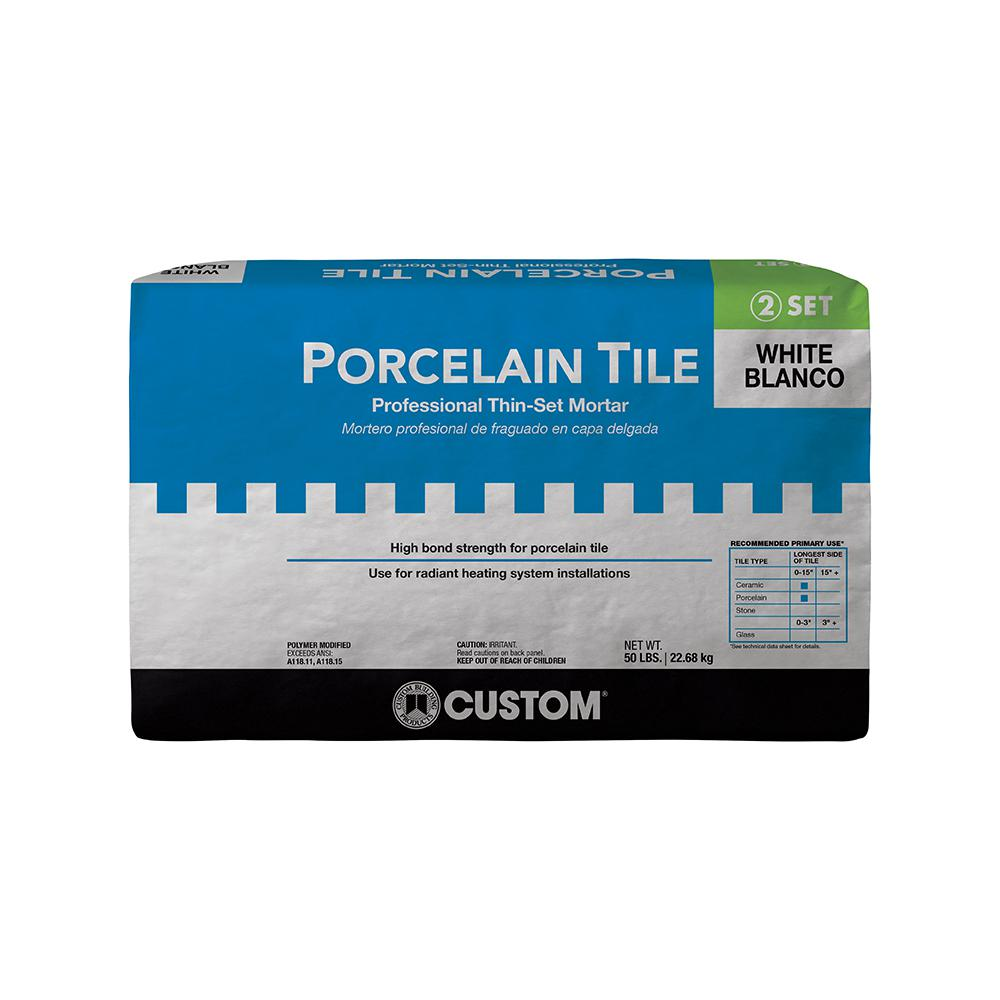 Custom Building Products Porcelain Tile White Lb Fortified - Best thinset for ceramic tile
