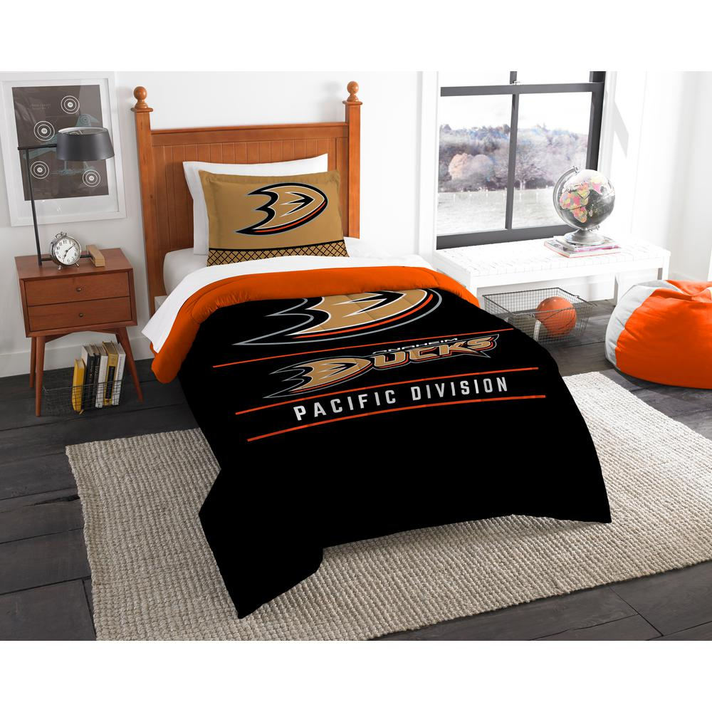 Ducks Draft 2-Piece Multi-Color Polyester Twin Comforter Set