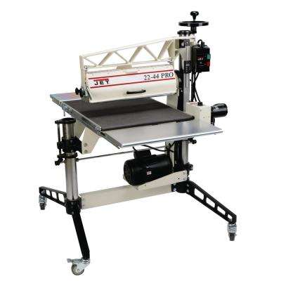 22-44 Pro, Drum Sander, Tables and Casters, 3 HP, 1Ph