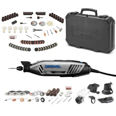 4300 Series 1.8 Amp Variable Speed Corded Rotary Tool Kit + Rotary Tool Accessory Kit (130-Piece)