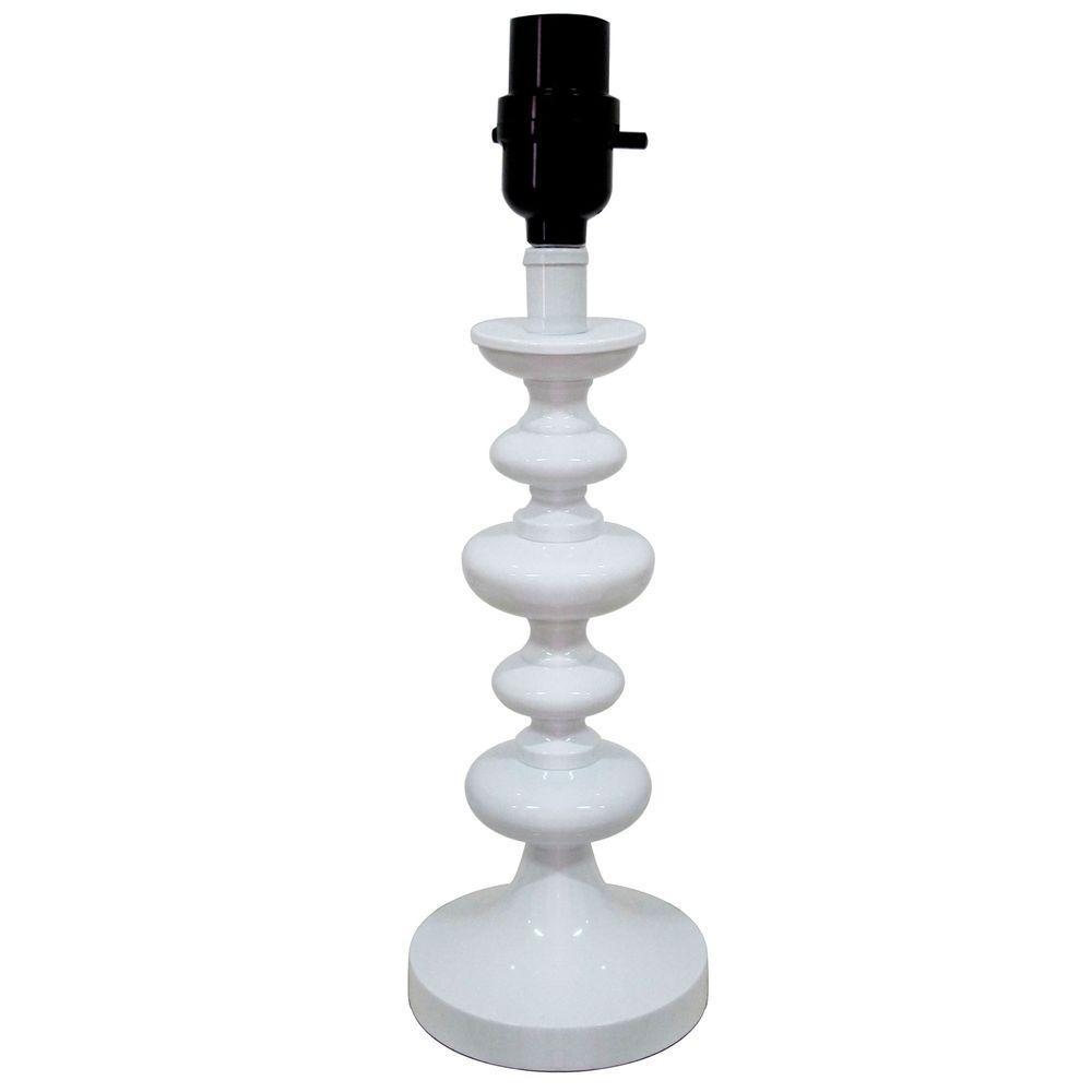 Hampton Bay Bolton 25 75 In Brushed Nickel Table Lamp