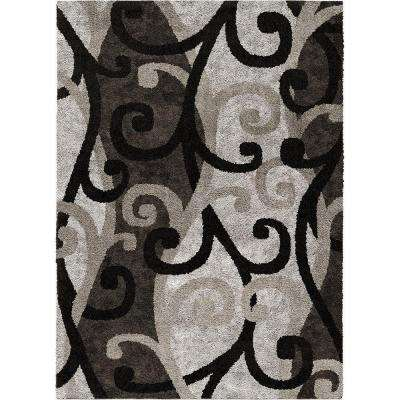 Spirit Black 8 ft. x 11 ft. Area Rug
