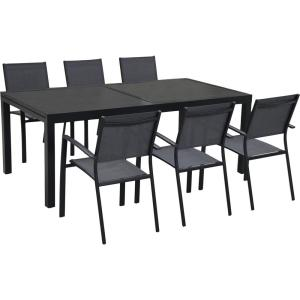 Hanover Naples 7-Piece Rectangular Patio Dining Set by Hanover
