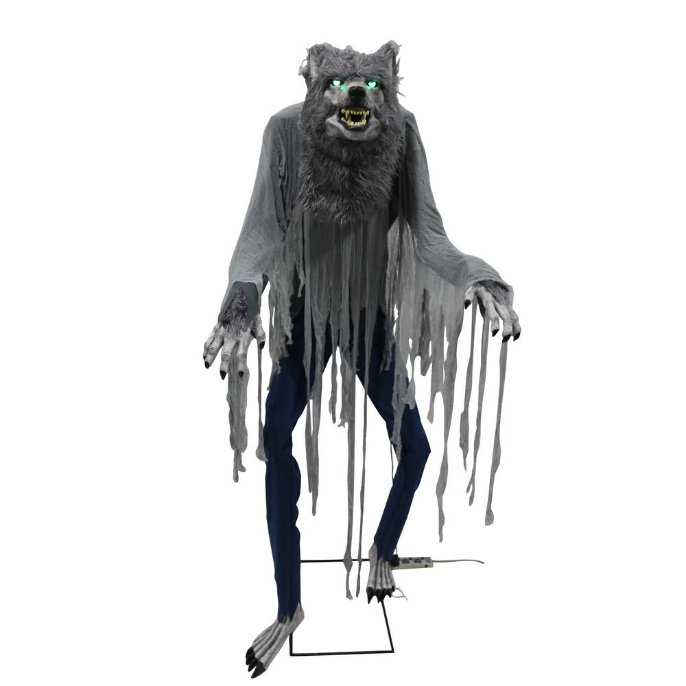 Home accents holiday 7 ft towering werewolf 5124439 the home depot Halloween decorations home depot