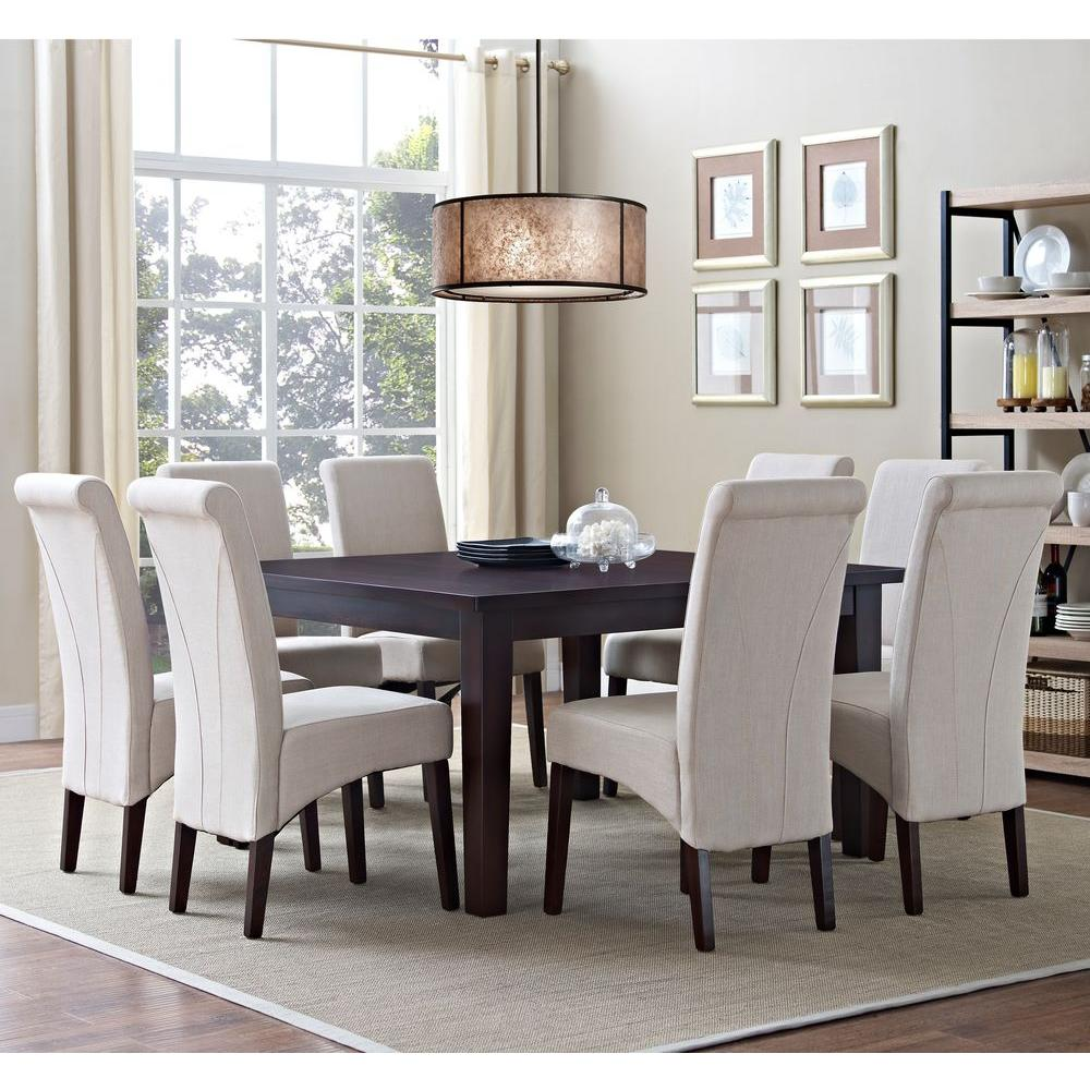 Simpli Home Avalon 9-Piece Natural Dining Set-AXCDS9-AVL-NL - The ...