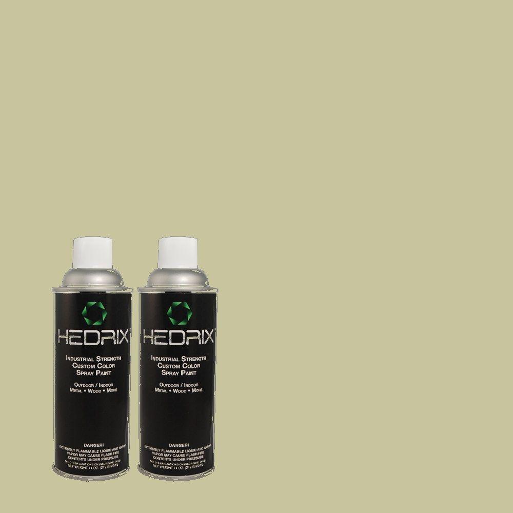 Hedrix 11 oz. Match of X-75 Soft Green Semi-Gloss Custom Spray Paint (2-Pack)