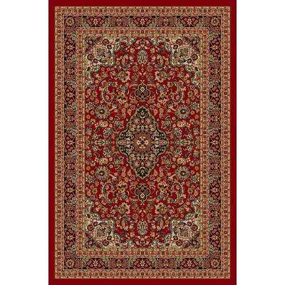 Hamam Collection Red 5 ft. x 7 ft. Area Rug
