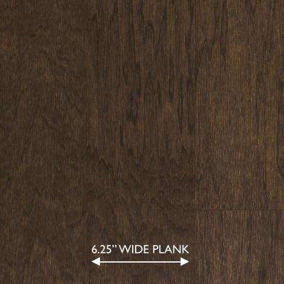 Scraped Hickory Ember 3/8 in. x 6-1/4 in. Wide x Random Length Engineered Click Hardwood Flooring (32.2 sq. ft. / case)