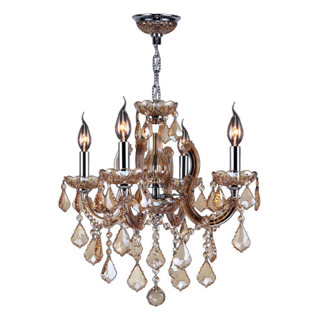 Worldwide lighting catherine collection 4 light polished chrome with worldwide lighting catherine collection 4 light polished chrome with amber crystal chandelier aloadofball Gallery