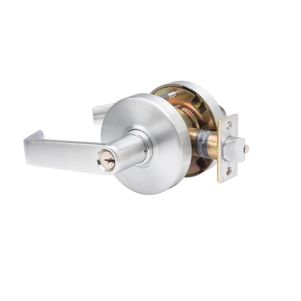 Taco Heavy Duty Grade 1 Commercial Cylindrical Classroom Clutch Function Door Lever in Brushed Chrome