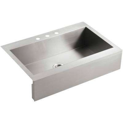 Vault Drop In Farmhouse A Front Stainless Steel 36 3 Hole