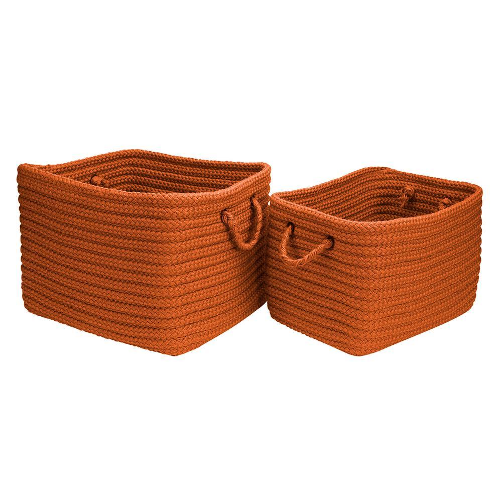 16 in. x 12 in. x 10 in. Modern Mudroom Polypropylene Storage in Orange