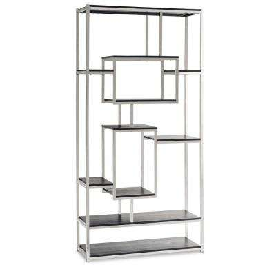 Harper Chrome Modern Bookcase