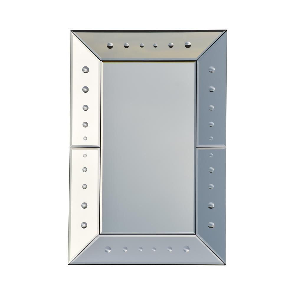 Maddock Modern Glam Rectangular Wall Mirror
