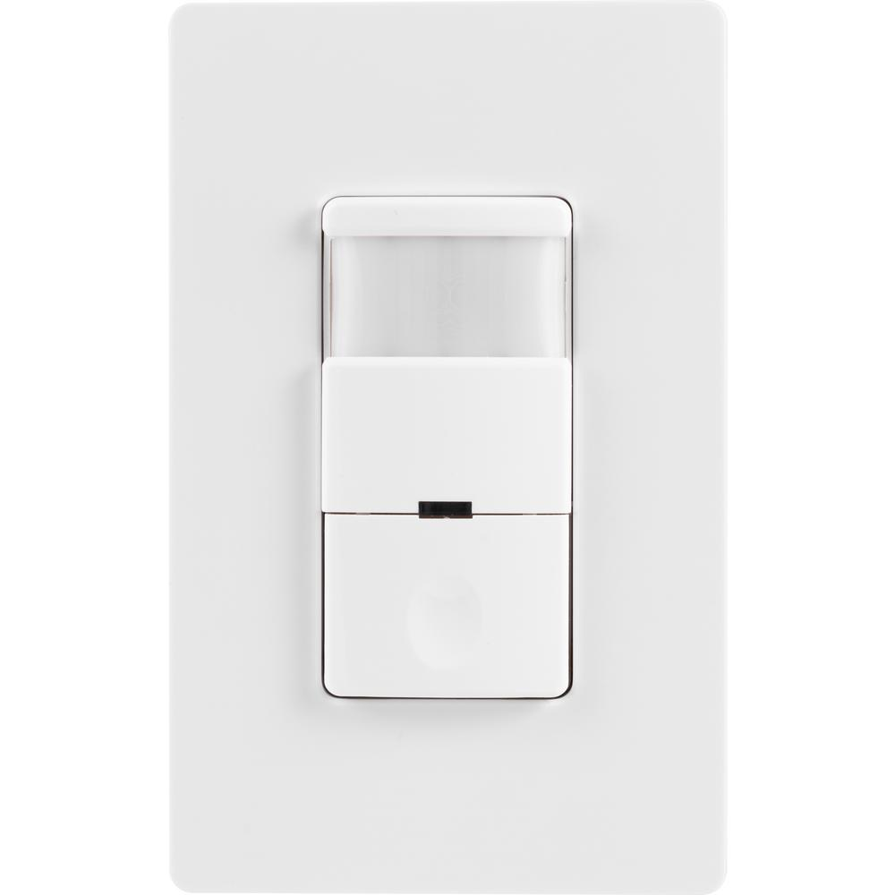 GE Motion-Sensing Switch with Automatic Shut-Off Feature, White