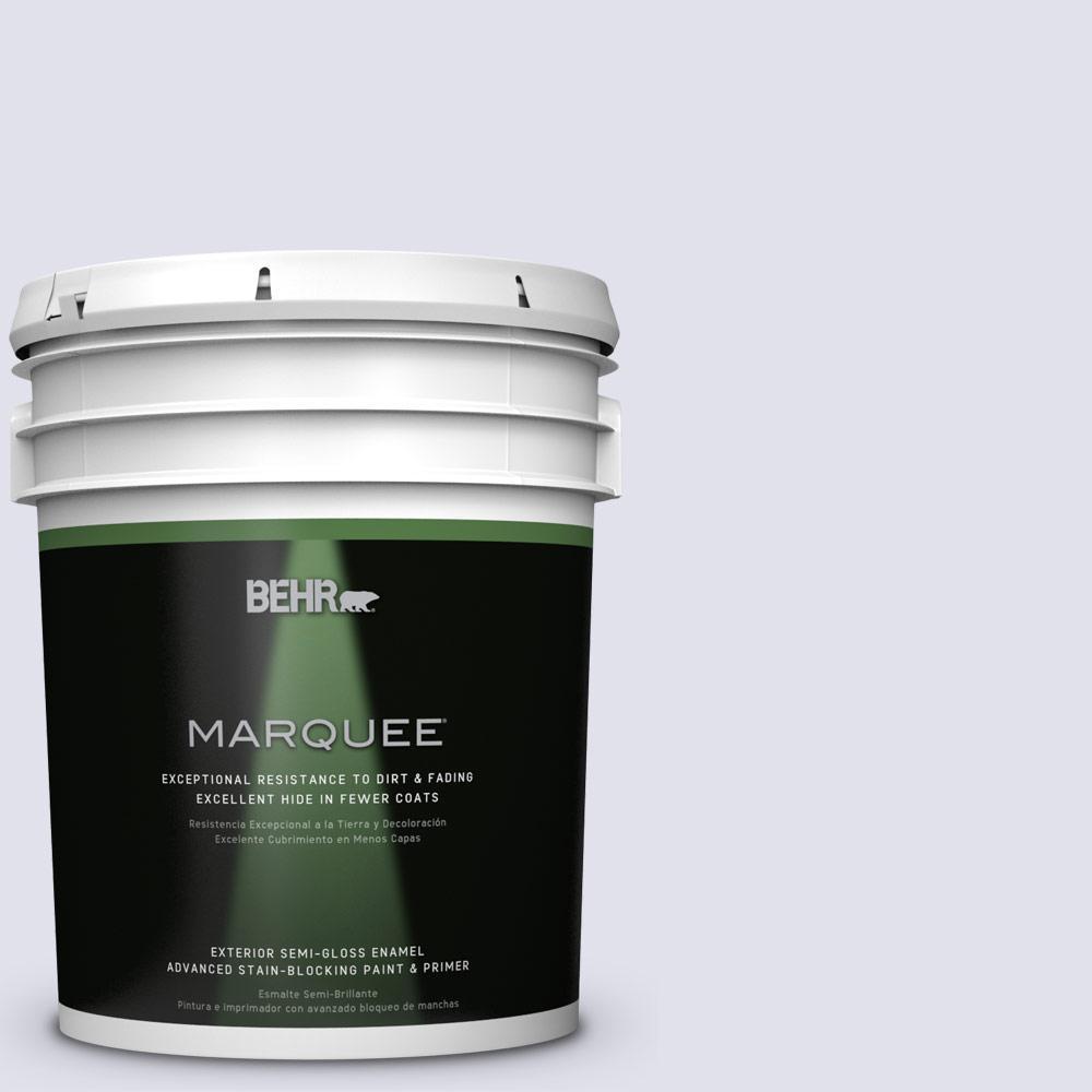 BEHR MARQUEE 5-gal. #M550-1 White Lavender Semi-Gloss Enamel Exterior Paint
