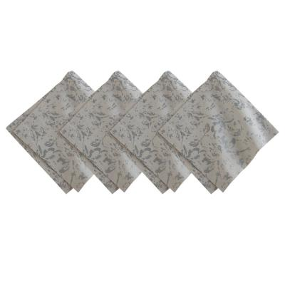 21 in. W x 21 in. L Metallic Damask Napkins in Dove Gray/Silver (Set of 4)