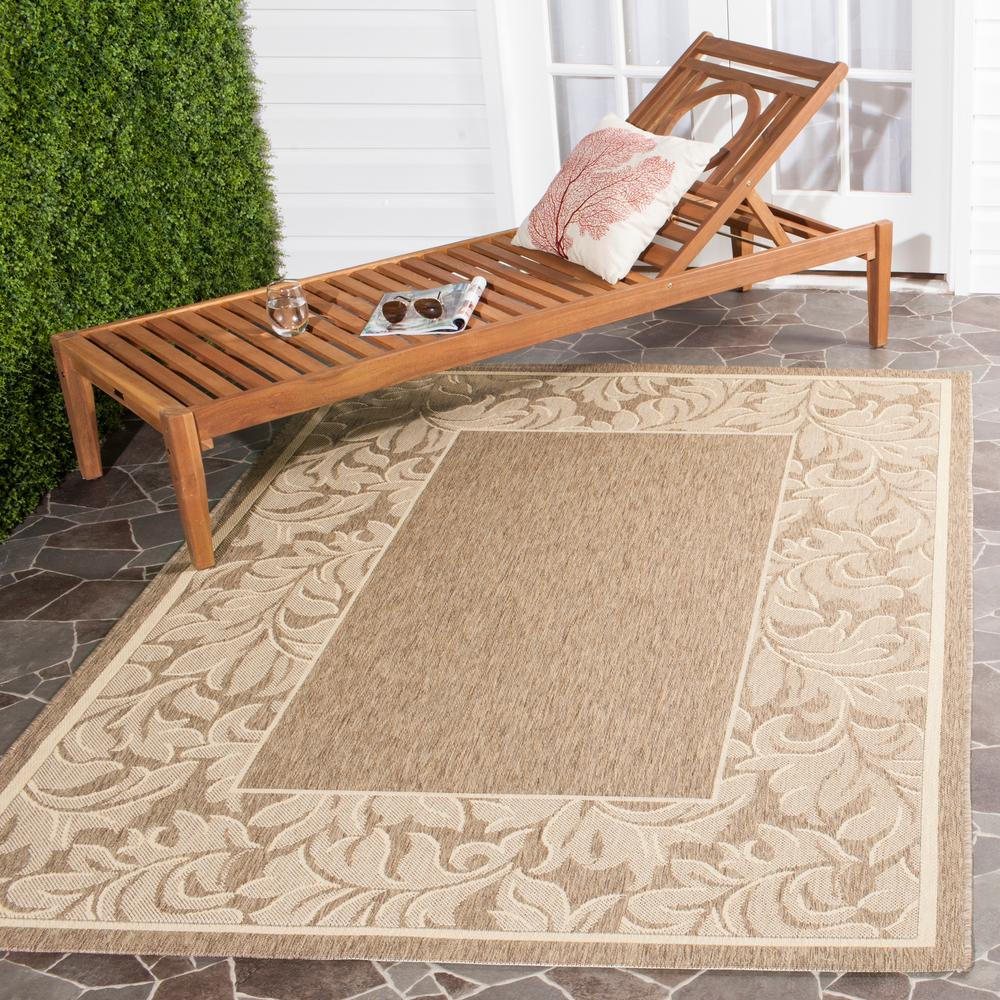 Safavieh Outdoor: Safavieh Courtyard Brown/Natural 6 Ft. 7 In. X 9 Ft. 6 In