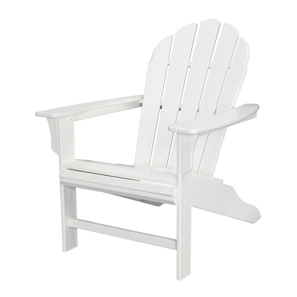 Trex outdoor furniture hd classic white patio adirondack chair txwa16cw the home depot Cw home depot furnitures