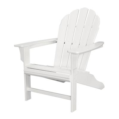 HD Classic White Plastic Patio Adirondack Chair