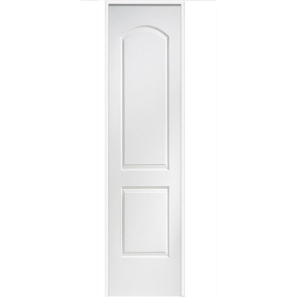 Mmi Door 18 In X 80 In Smooth Caiman Left Hand Solid Core Primed Molded Mdf Single Prehung