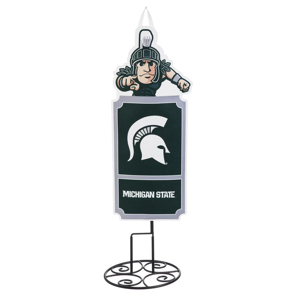 1-1/10 ft. x 3 ft.  Michigan State University Statement Stake