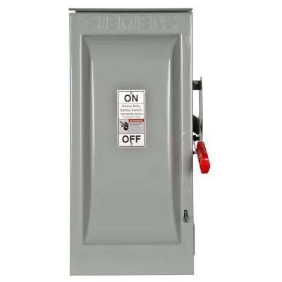 Heavy Duty 100 Amp 600-Volt 3-Pole Outdoor Fusible Safety Switch with Neutral