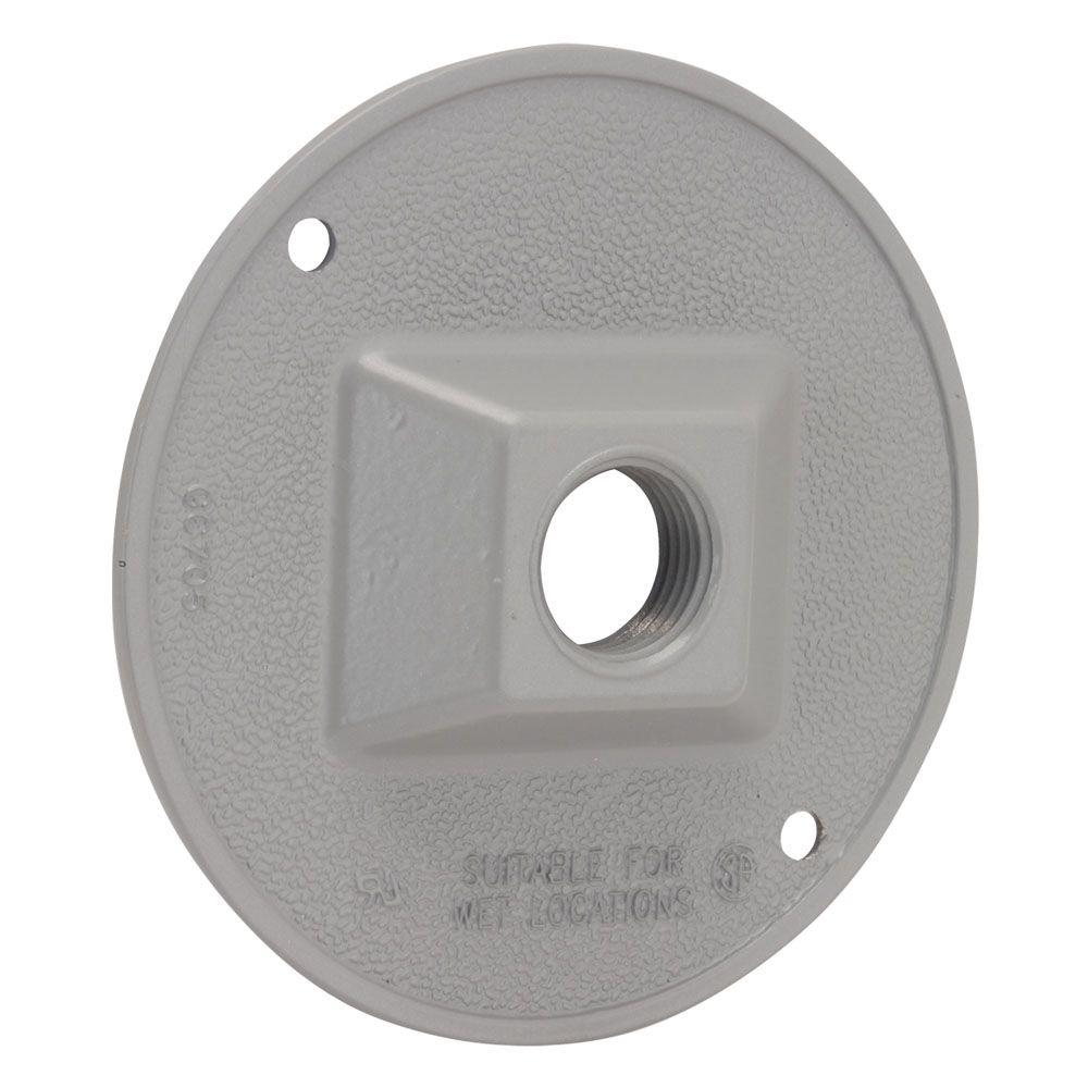 BELL 4 in. Round Weatherproof Cluster Cover with one 1/2 in. Outlet