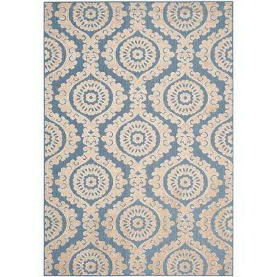 Medallion - Blue - Outdoor Rugs - Rugs - The Home Depot