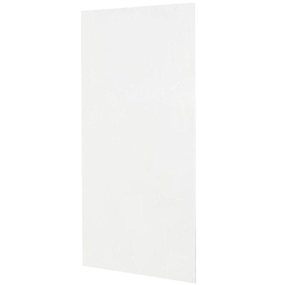 Swan 36 in. x 72 in. 1-piece Easy Up Adhesive Shower Wall Panel in White