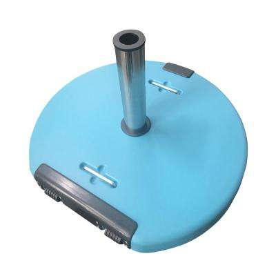 Mota 120.37 lbs. Concrete Patio Umbrella Base in Teal