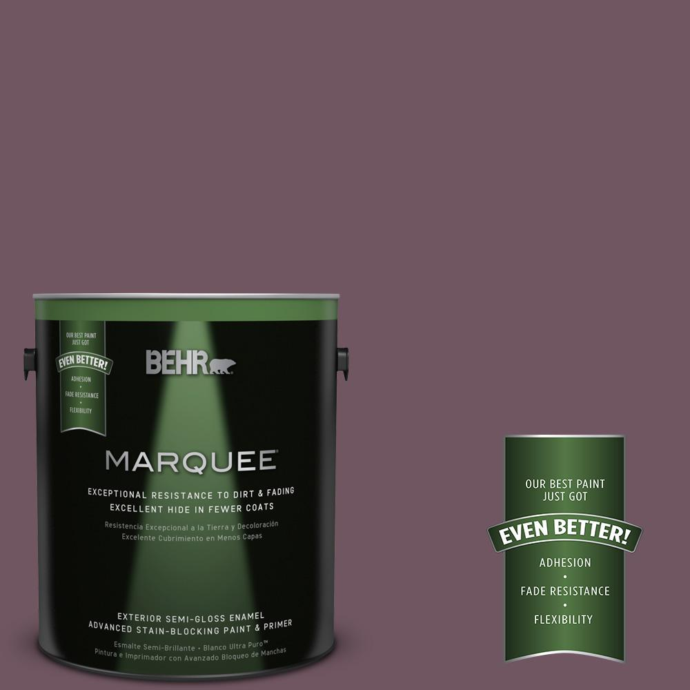 BEHR MARQUEE 1-gal. #S110-7 Exotic Eggplant Semi-Gloss Enamel Exterior Paint